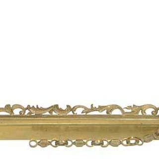 Brass Figural Fender with Mounted Guard Dogs
