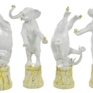 Andrea Spadini Ceramic Elephants and Hippos