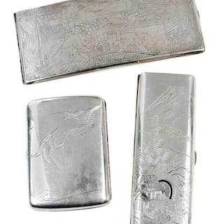 Three Asian Silver Cases