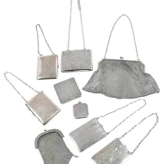 Nine Silver Purses/Cases