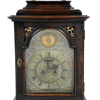 Georgian Bracket Clock with Brass Dial