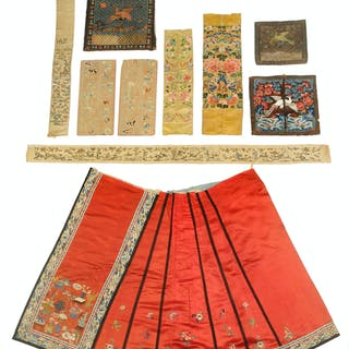 Eight Chinese Silk Embroideries