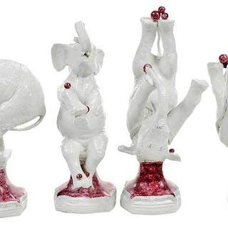 Four Andrea Spadini Ceramic Elephants
