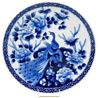 Blue and White Arita Charger
