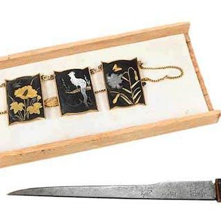 Three Japanese Damascene Pieces