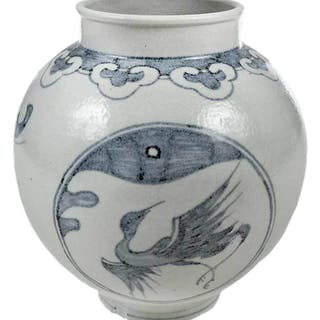 Korean Blue and White Vase