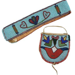 Plateau Beaded Bag and Beaded Strip