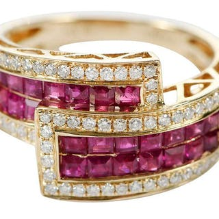 14kt. Diamond and Ruby Ring
