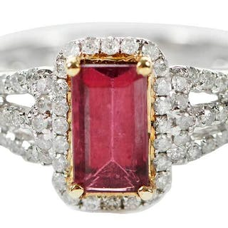 14kt. Tourmaline and Diamond Ring
