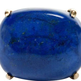 14kt. Lapis and Diamond Ring