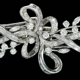 Platinum, 14kt. Diamond Dress Clips