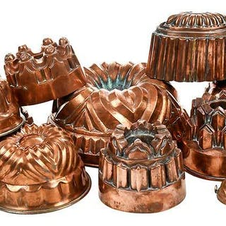 14 Copper Cooking Molds