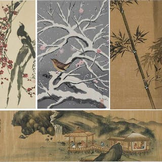 Four Framed Japanese Artworks