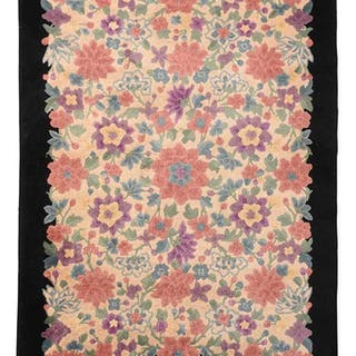Chinese Feti Rug With Floral Field