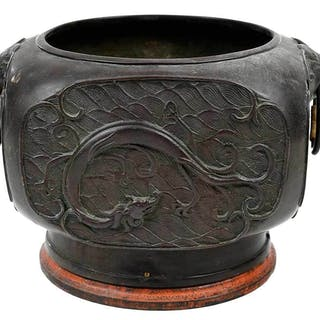 Chinese Red Copper Censer