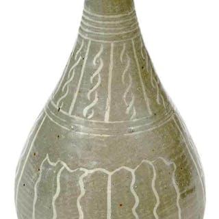 Celadon Buncheong Ware Vase