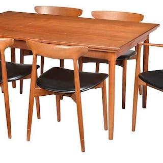 Set Six Danish Modern Teak Chairs
