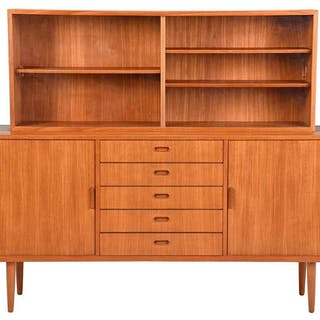 Danish Modern Sideboard with Bookcase