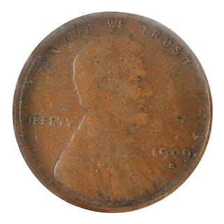 1909-S VDB Lincoln Cent P.C.I. Fine-15