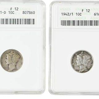1942/1 and 1942/1-D Mercury Dime Overdates