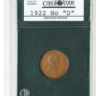 1922 No D Lincoln Cent