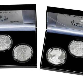 Two American Silver Eagle 20th Anniversary Sets