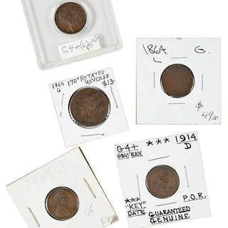 48 Key and Semi-Key Small Cents