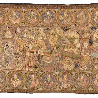 Thai Embroidered and Sequined Wall Hanging