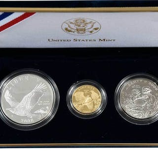 2008 Bald Eagle 3 Piece Commemorative Set