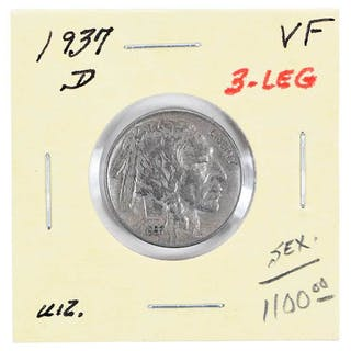 1937-D Buffalo Nickel 3 Leg Variety