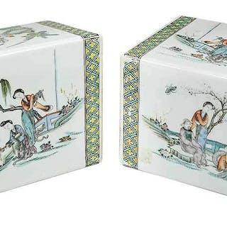 Pair Chinese Porcelain Pillows
