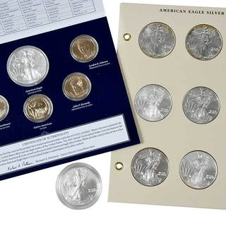 157 Silver Eagles: UNC, Proof, Burnished