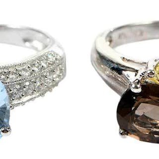 Two Gemstone Rings