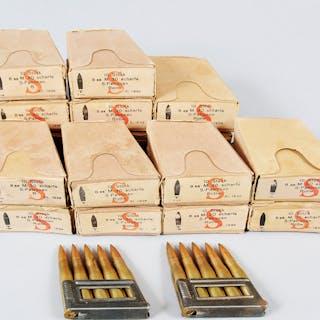 17 Boxes Ammo 8mm M. 30 scharfe S-Patronen Ammunition