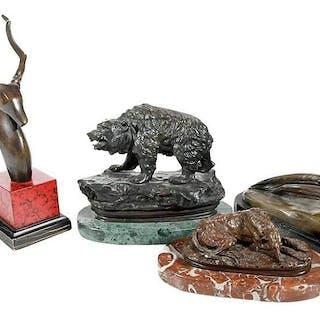 Four European Animalier Bronzes