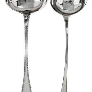 Two Silver Ladles, Bateman and New York