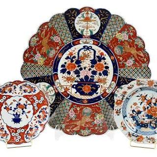 Group of Five Imari Porcelain Pieces