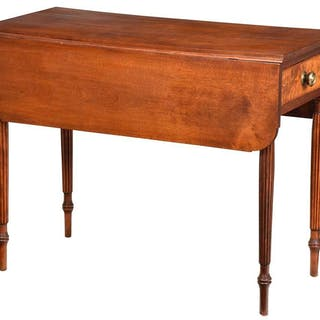 American Federal Walnut Pembroke Table