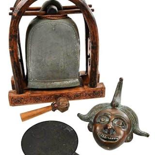 Lot of Three Bronze Decorative Objects