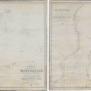 Two Framed 19th Century Nautical Whaling Maps
