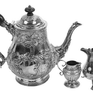 Three Pieces English Silver Holloware