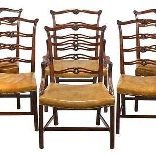 Set of Eight George III Style Dining Chairs