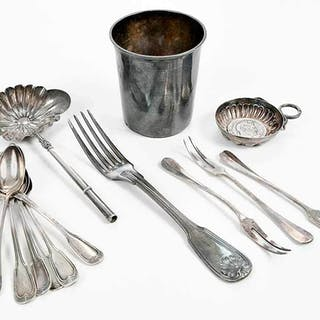 Group of French Silver Items
