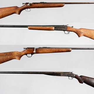 Two Bolt Action Rifles and Two Shotguns