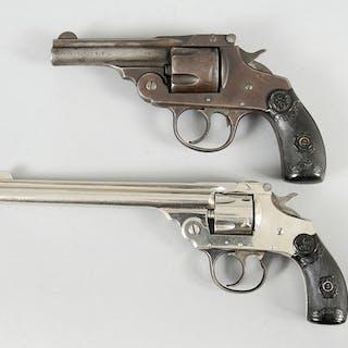 Two Iver Johnson Top Break Revolvers