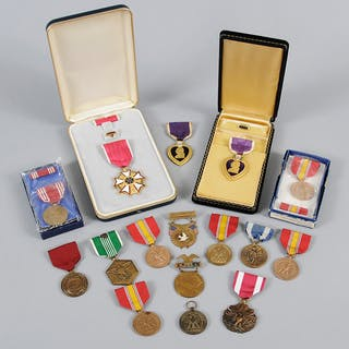 Large Group of US Military Medals