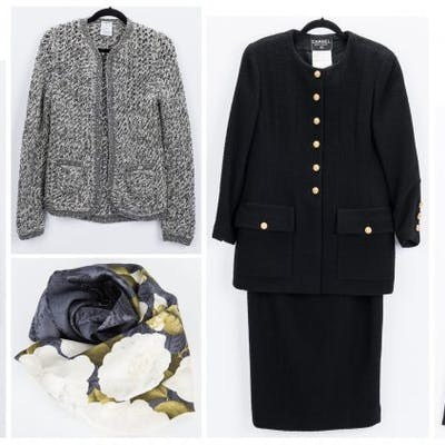 5 Chanel Fashion Items incl. Cardi Coat