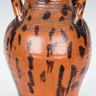 East TN Earthenware Jar w/ Manganese Decoration