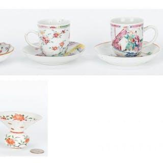 10 Chinese Porcelain Items, incl. Famille Verte/Famille Rose