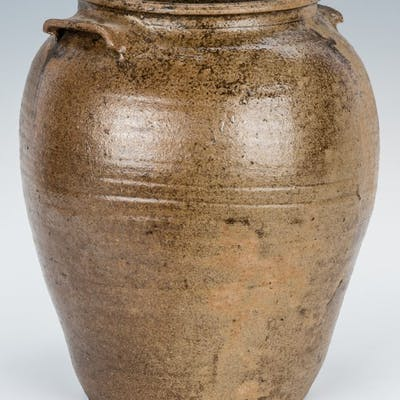 Possible SC Edgefield District Slave Made Pottery Stoneware Jar